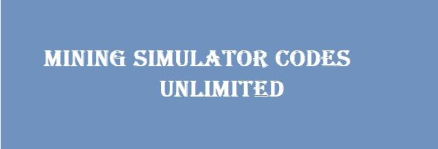Mining Simulator codes - Roblox